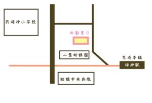 船橋市すてっぷ海神ピアノ教室の地図